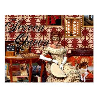 Screen Queen Collage Postcard