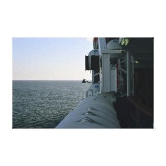 Screen twilight/boat canvas print