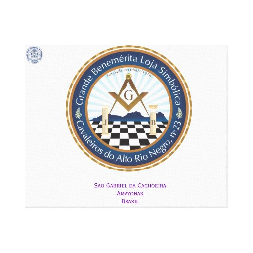 Screen with Logo Freemason CARN Stretched Canvas Print