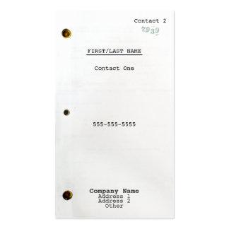 Screenplay Business Card
