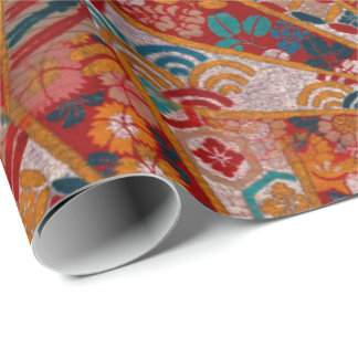 Screens Oriental Fabric Wrapping Paper