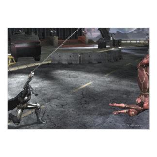 Screenshot: Batman vs Flash 13 Cm X 18 Cm Invitation Card