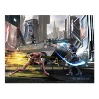 Screenshot: Flash vs Nightwing Postcard