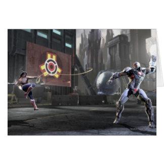Screenshot: Wonder Woman vs Cyborg 2 Card
