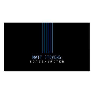 Screenwriter Business Card Blue Beams