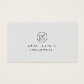 Screenwriter Paper Quill Icon Publishing Business Card
