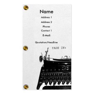 Screenwriter Scriptwriter Film business card