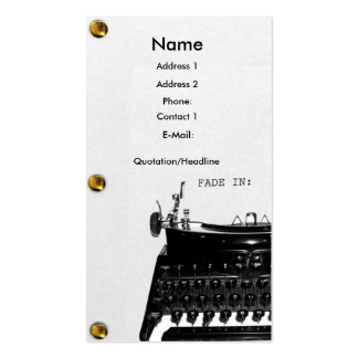 Screenwriter Scriptwriter Film  business card