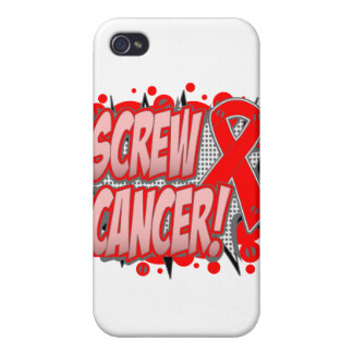 Screw Blood Cancer Comic Style iPhone 4/4S Cases