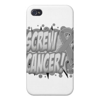 Screw Brain Cancer Comic Style iPhone 4 Cases