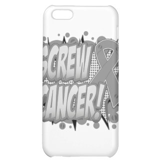 Screw Brain Cancer Comic Style Cover For iPhone 5C
