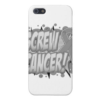 Screw Brain Cancer Comic Style Cover For iPhone 5