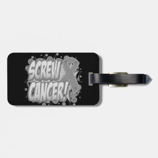 Screw Brain Cancer Comic Style Bag Tags