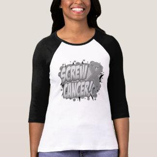 Screw Brain Cancer Comic Style Tee Shirt