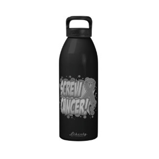 Screw Brain Cancer Comic Style Reusable Water Bottles
