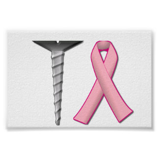 Screw Breast Cancer! Customizable Poster