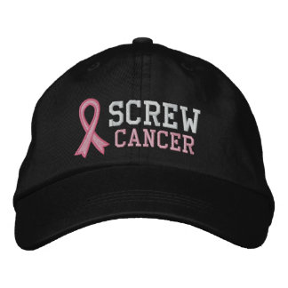 Screw Breast Cancer Embroidered Hat