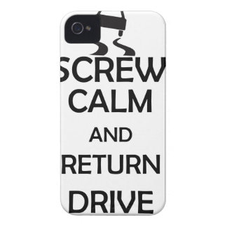 screw calm and return drive iPhone 4 cases
