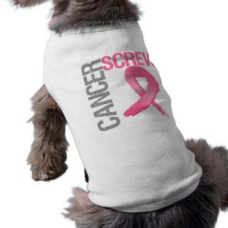 Screw Cancer - Breast Cancer Sleeveless Dog Shirt