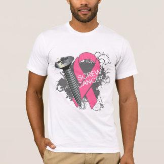 Screw Cancer - Grunge Breast Cancer T-Shirt