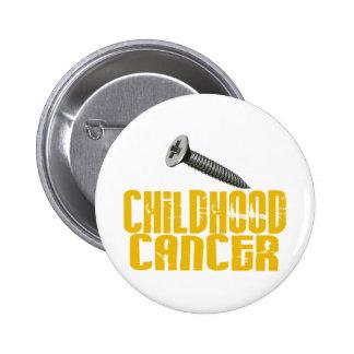 SCREW Childhood Cancer 1 6 Cm Round Badge