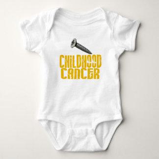 SCREW Childhood Cancer 1 Baby Bodysuit
