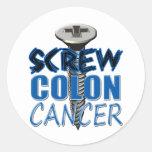 Screw Colon Cancer Stickers