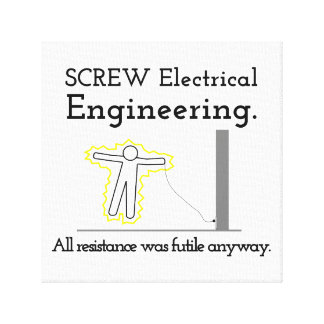 Screw Electrical Engineering Stretched Canvas Prints