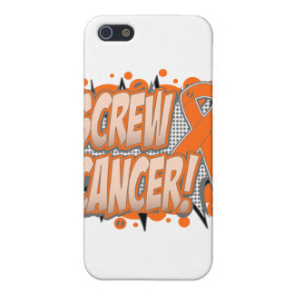 Screw Leukemia Cancer Comic Style Case For iPhone 5