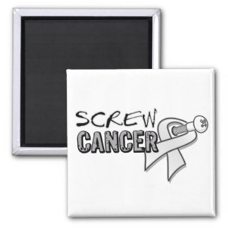 Screw Lung Cancer Square Magnet