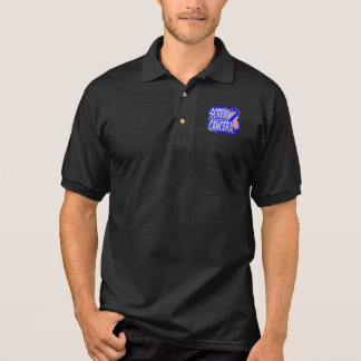 Screw Male Breast Cancer Comic Style Polo T-shirts