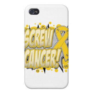 Screw Neuroblastoma Cancer Comic Style iPhone 4 Cover