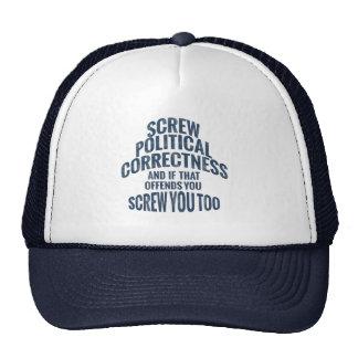 Screw Political Correctness Hats Caps