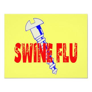 Screw Swine Flu Personalized Invitation