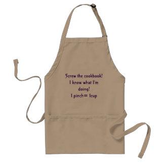 screw the cookbook satiric apron