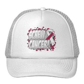 Screw Throat Cancer Comic Style Trucker Hats
