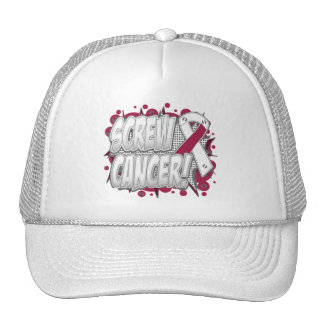 Screw Throat Cancer Comic Style Mesh Hat