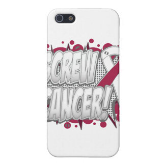 Screw Throat Cancer Comic Style iPhone 5 Cover