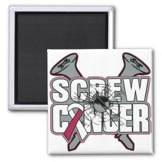 Screw Throat Cancer Square Magnet