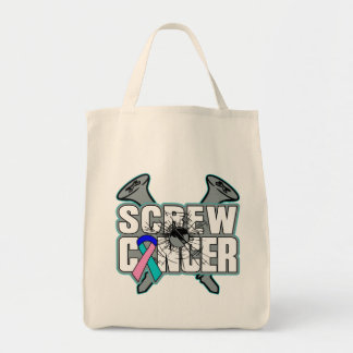 Screw Thyroid Cancer Grocery Tote Bag