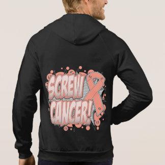 Screw Uterine Cancer Comic Style Hoodie