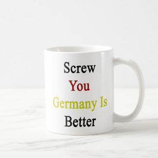 Screw You Germany Is Better Basic White Mug