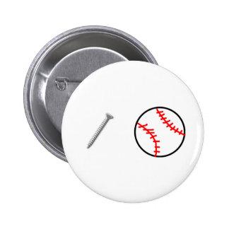 Screwball Pinback Button