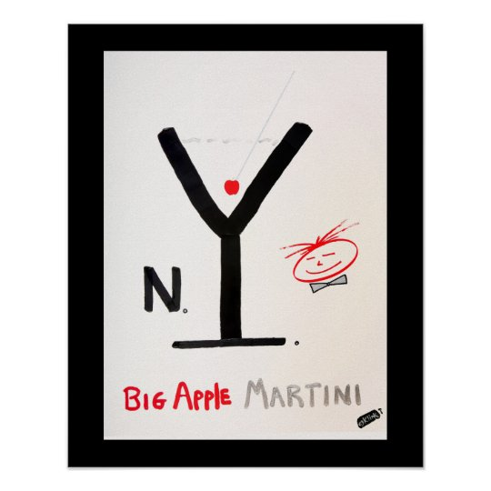 Screwballs™ NY Martini Poster Art