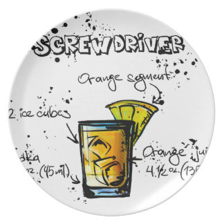 Screwdriver Cocktail Recipe Plate