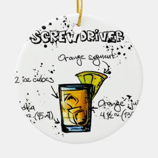 Screwdriver Cocktail Recipe Round Ceramic Decoration