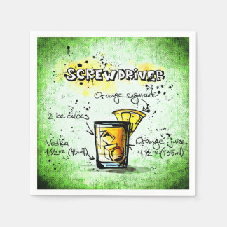 Screwdriver Drink Recipe Paper Napkin