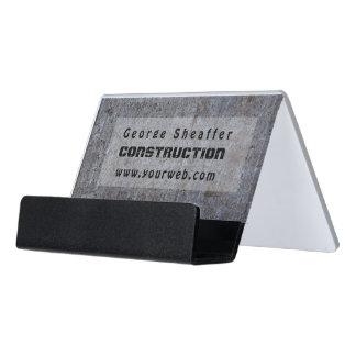 Screwed On Grunge Cement Modern Minimalist Desk Business Card Holder