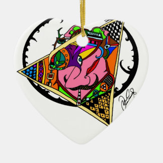 SCREWED UP.jpg Ceramic Heart Decoration