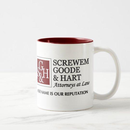 Screwem Goode & Hart Two-Tone Coffee Mug